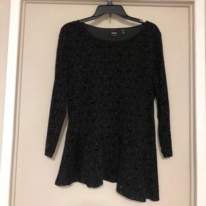 Rafaella Asymmetrical Dressy Top Size Large